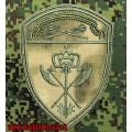 Нарукавный знак службы МТО Центрального округа Росгвардии расцветки Мох зеленый