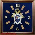 Настенные часы с вышитой эмблемой СКР и погонами