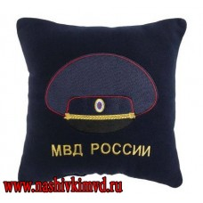 Подушка с вышивкой МВД России