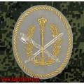 Нарукавный знак сотрудников центрального аппарата ФСИН для кителя серого цвета