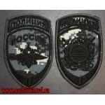 Комплект шевронов полиции для камуфляжа точка