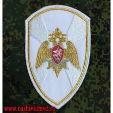Нарукавный знак Росгвардии для рубашки белого цвета