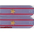 Погоны МВД для рубашки голубого цвета звание майор